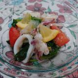 彩り♪お野菜マリネ*新玉ねぎ ほうれん草 トマト