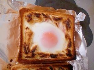 マヨ土手なしで作るハムチーズエッグトースト