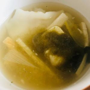 あったか豆腐**山芋*水餃子スープ