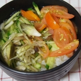 夏野菜★冷や汁 (ミニ丼)