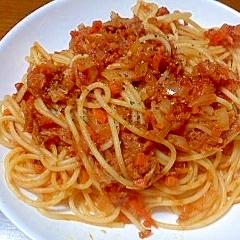 ツナのトマトソースパスタ