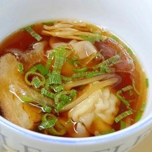 残り物で☆ 自家製焼豚入り「焼売スープ」