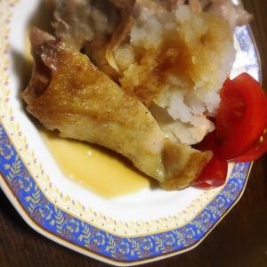 パリパリ 柔らか ポン酢と大根おろしの鶏肉ソテー