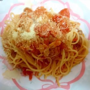 蟹のトマトパスタ