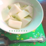 緑茶ミルク寒天