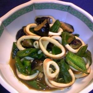 イカワタの活用DEグッと濃厚♡イカと野菜の炒め物♡
