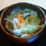 出汁いらず野菜たっぷりささみスープ