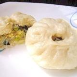 白菜とたまごの中華まん(白菜鶏蛋包子)