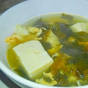 あまり物で、簡単中華スープ