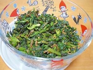 「大根の間引き菜とちりめんの醤油炒め」 ♪♪
