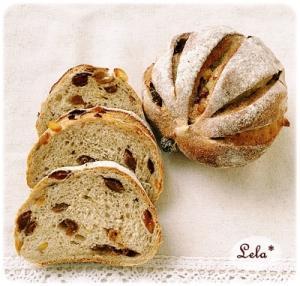 ラムレーズンとオレンジのライ麦パン