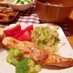 グリルでふんわり★鮭の辛子マヨネーズ焼き