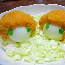 キイコドモダケ☆かぼちゃと玉子のサラダ