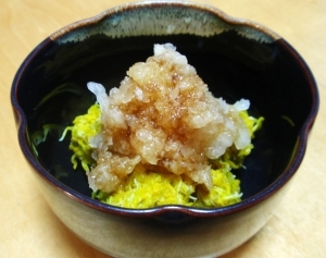 菊の花☆おろしポン酢和え