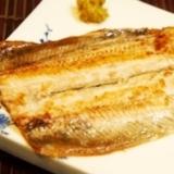 フライパンで簡単、秋刀魚の白焼き
