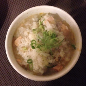 鮭と水菜の雑炊