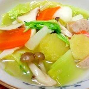 こんだけ入れば薬膳っしょ!たっぷり野菜のスープ