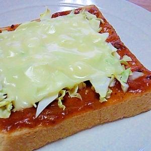 余ったミートソースでピザ風トースト