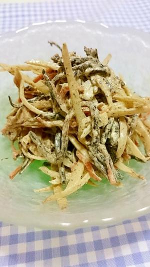 ひじき煮物リメイク♪ひじきとごぼうサラダ