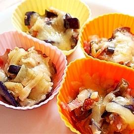 冷凍常備でお弁当に便利!ナスとベーコンのチーズ焼き