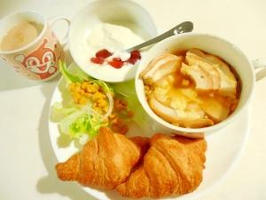 オニオンスープ麩グラタンワンプレート