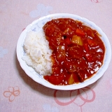 トマト缶でカレーライス