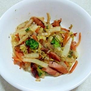 ひとりランチ 5分で野菜炒め!