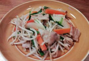 シャッキリ肉野菜炒め