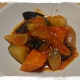完熟トマトを使って冷蔵庫にある野菜でラタトゥイユ