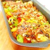 エッグロースターde❤Mソースと彩り野菜のポテト焼