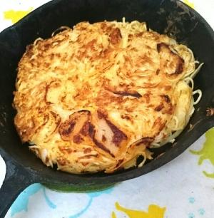 素麺のキムチーズチヂミ