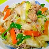 白菜ともやし豚肉のうま煮