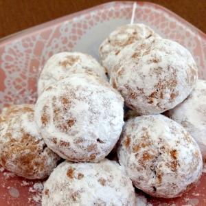 オリーブオイルで☆ココアのスノーボールクッキー