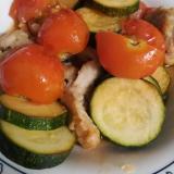 今が旬★夏野菜と鶏肉のにんにく醤油炒め