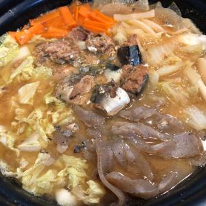 鯖缶味噌鍋