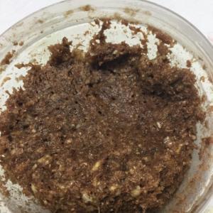 ココア風味の納豆豆腐蒸しパン