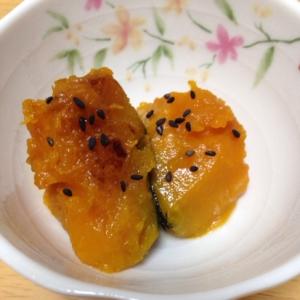 かぼちゃの麺つゆ黒ごま煮(*^^*)☆