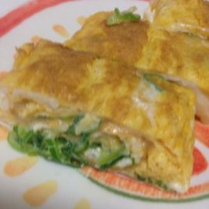 毎日のお弁当に!ネギとチーズの卵焼き