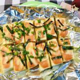 絹揚げの明太マヨチーズ焼き