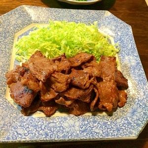 牛肉のスタミナ炒め☆春キャベツ添え