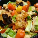 ストウブDe〜鶏胸肉の黒酢炒め