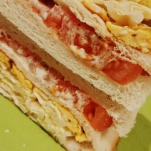 野菜たっぷり白菜トマトサンド