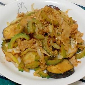 夏野菜と豚バラ肉の簡単味噌炒め