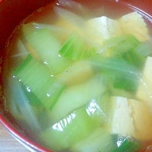 チンゲン菜の和風スープ
