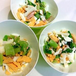 お手軽☆青梗菜とツナと茹で卵のサラダ