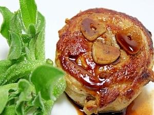ぐるぐるポークステーキ★豚バラ薄切り肉で!