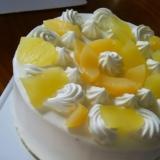 ヨーグルトクリームデコレーションケーキ