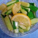 「キュウリのレモン酢&醤油漬け」   ♪♪