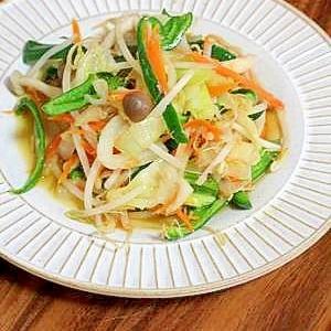 ツナ缶でシャキシャキ野菜の中華炒め