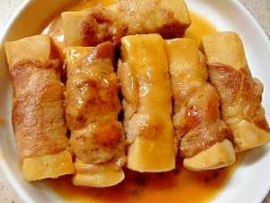 お弁当レシピ 高野豆腐の豚肉巻き